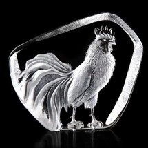 Rooster Crystal Sculpture   34235   Mats Jonasson Maleras