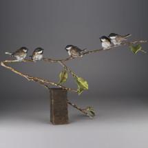 "Chickadee Bronze Sculpture ""Fine Feathers"" | Mark Hopkins | 73022"