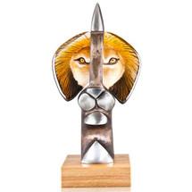 Lion Iron and Crystal Sculpture | The King II | 68144 | Mats Jonasson Maleras