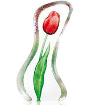 Tulip Red Crystal Sculpture | 34014 | Mats Jonasson Maleras