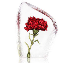 Carnation Crystal Sculpture | 34088 | Mats Jonasson Maleras