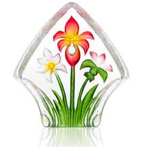 Flower Crystal Red Bouquet Sculpture | 34248 | Mats Jonasson Maleras