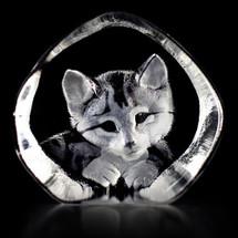 Cat Crystal Sculpture | 33729 | Mats Jonasson Maleras