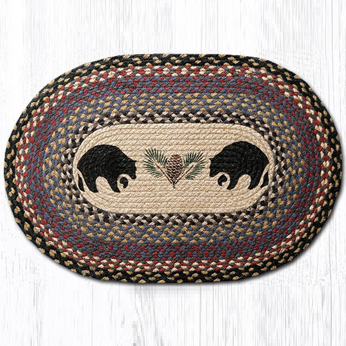 Black Bear Oval Braided Rug Capitol Earth Rugs Jute