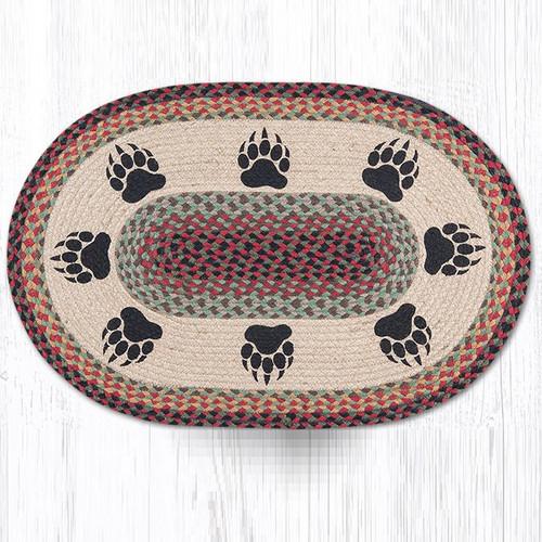 Bear Paw Oval Braided Rug