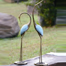 Crane Garden Sculpture Pair | 33336 | SPI Home