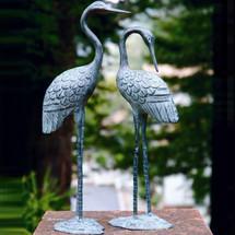 Crane Sculpture Love Pair