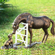 "Horse & Dog Sculpture ""Barnyard Pals"" 