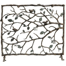 Birds Branches and Leaves Fireplace Screen | 33488 | SPI Home