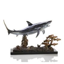 Shark with Prey Sculpture   30969   SPI Home