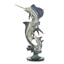 """Marlin and Sailfish """"Imperial Slam"""" Sculpture 