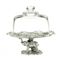 Elephant Petite Domed Cake Plate | Arthur Court Designs | ACD102518-DISC -2