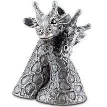 Giraffe Pewter Salt Pepper Shakers | Vagabond House | VHCC116G