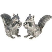 Pewter Squirrel Salt Pepper Shakers | Vagabond House | VHCS116