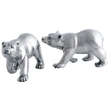 Pewter Polar Bear Salt Pepper Shakers   Vagabond House   VHCV924