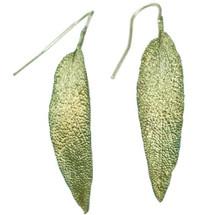 Sage Leaf Earrings   Michael Michaud Jewelry   SS4412bz