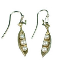 Petite Peapod Wire Earrings | Michael Michaud Jewelry | SS4707bzwp -2