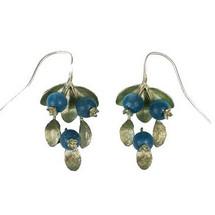 Blueberry Wire Drop Earrings