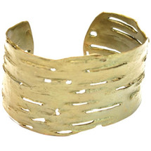Birch Bark Bronze Cuff Bracelet