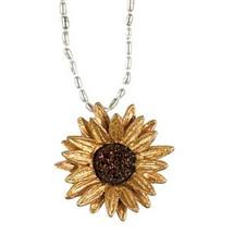 Sunflower Adjustable White Pearl Pendant | Michael Michaud Jewelry | ss8821bzbd -2