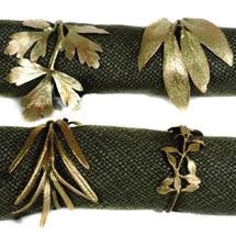 Herb Assortment Napkin Rings Set of 4  | Michael Michaud Table Art | TAnr9354ab