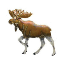 Moose Cloisonne Pin | Bamboo Jewelry | bj0019p