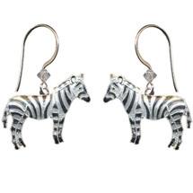 Zebra Cloisonne Wire  Earrings | Bamboo Jewelry | bj0037e