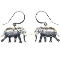 Jungle Elephant Cloisonne Wire Earrings | Bamboo Jewelry | bj0057e