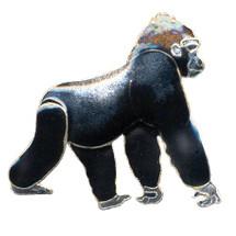 Gorilla Cloisonne Pin | Bamboo Jewelry