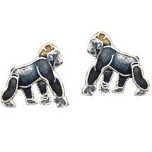 Gorilla Cloisonne Post Earrings | Bamboo Jewelry | bj0059pe