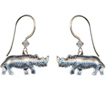 Rhino Cloisonne Wire Earrings | Bamboo Jewelry | bj0061e