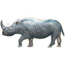 Rhino Cloisonne Pin | Bamboo Jewelry | bj0061p