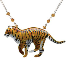 Tiger Cloisonne Necklace | Bamboo Jewelry