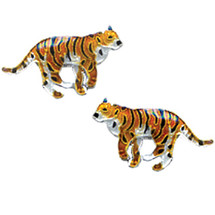 Tiger Cloisonne Post Earrings | Bamboo Jewelry