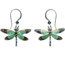 Radiant Gossamer Wing Dragonfly Wire Earrings | Bamboo Jewelry | BJ0076E -2