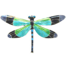 Radiant Gossamer Wing Dragonfly Cloisonne Pin | Bamboo Jewelry | bj0076p