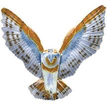 Barn Owl Cloisonne Pin | Bamboo Jewelry