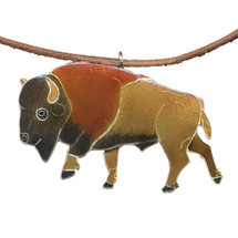 Buffalo Cloisonne Necklace | Bamboo Jewelry | bj0164ln