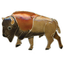 Buffalo Cloisonne Pin | Bamboo Jewelry