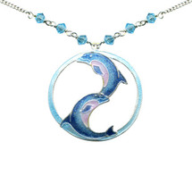 Dolphin Ying Yang Necklace | Bamboo Jewelry | BJ0249LN