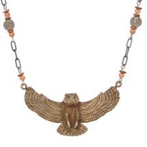 Great Horned Owl Pendant Necklace | Cavin Richie Jewelry