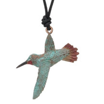 Hummingbird Rufous Pendant Necklace | Cavin Richie Jewelry | DMOKB-239-PEND