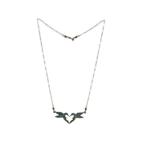 Hummingbird Heart Necklace | Cavin Richie Jewelry | KB336-SSC
