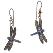 Dragonfly Blue Earrings | Cavin Richie Jewelry | DMOKBE-89-FH