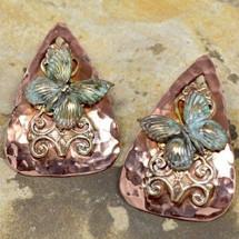 Butterfly Filigree Teardrop Post Earrings | Elaine Coyne Jewelry | ecgnv596e