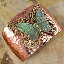Butterfly with Filigree Cuff Bracelet | Elaine Coyne Jewelry | ecgnv597cf
