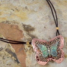 Butterfly Neo-Victorian Pendant Necklace | Elaine Coyne Jewelry | ecgnv597pd