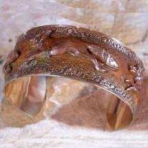 Fox Solid Brass Cuff Bracelet | Elaine Coyne Jewelry