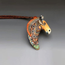 Horse Pendant Necklace | FimoCreations Jewelry | FCFHN