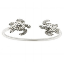 Sea Turtle Sterling Silver Tube Bracelet | Kabana Jewelry | Kbr330 -3